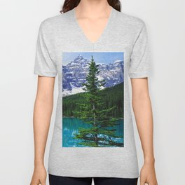 Canadian Wonder: Moraine Lake Unisex V-Neck