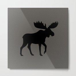 Moose Silhouette Metal Print
