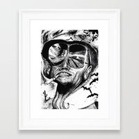 fear and loathing Framed Art Prints featuring Fear and Loathing by Tufty Cookie
