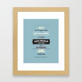 No es Tanto ver Framed Art Print