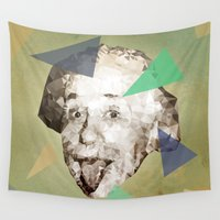 einstein Wall Tapestries featuring Smile Einstein, Smile by Esco