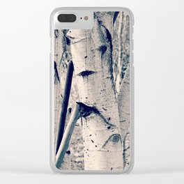 Forest Scene Clear iPhone Case