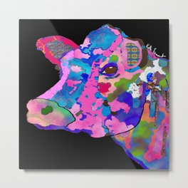 Bessie the Cow  Metal Print