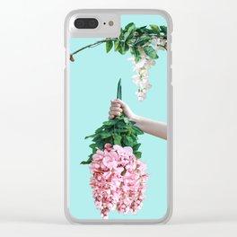 1992 Floral Episodes (Aqua) Clear iPhone Case