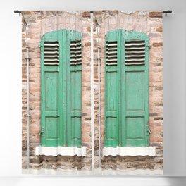 Green Window Blackout Curtain