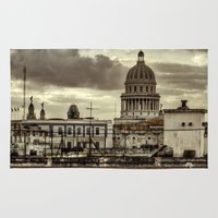 cuba Area & Throw Rugs featuring CUBA - CAPITOLIO by mayavisual