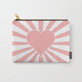 Pink Coral Valentine Love Heart Explosion Carry-All Pouch