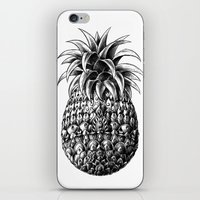 ornate iPhone & iPod Skins featuring Ornate Pineapple by BIOWORKZ