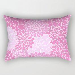 Pink Dahlias Rectangular Pillow