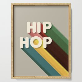 HIP HOP - typography Serving Tray