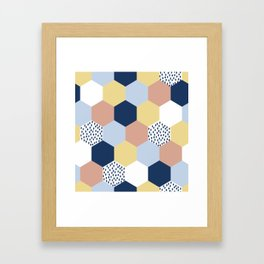 Cotton Candy Hexies Framed Art Print