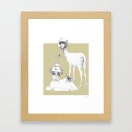 Weird & Wonderful: Space Deer Framed Art Print