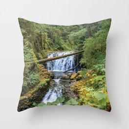 Dutchman Falls - Columbia River Gorge Oregon Throw Pillow