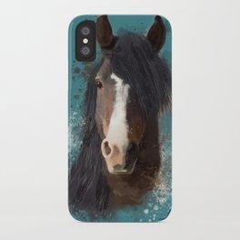 Black Brown Horse Artwork iPhone Case