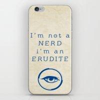 divergent iPhone & iPod Skins featuring NERD? ERUDITE - DIVERGENT by MarcoMellark