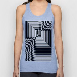 LA echo / Lined frame expanding from LA text Unisex Tank Top