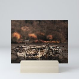 Old Rowboat On The Water Mini Art Print