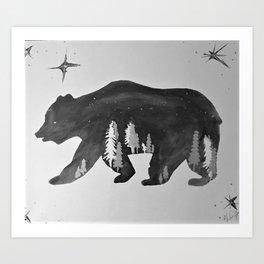 The Night Bear Art Print