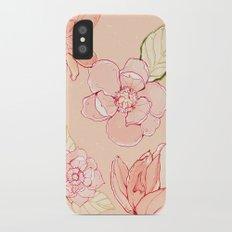 Summer flowers warm Slim Case iPhone X