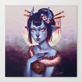 Oni Girl OC Canvas Print