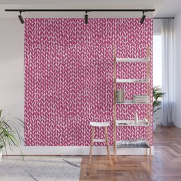Hand Knit Hot Pink Wall Mural