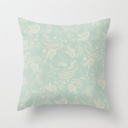 Batik Paisley 2 Throw Pillow
