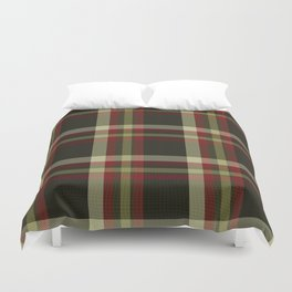 Colors Of Christmas (Plaid) Duvet Cover