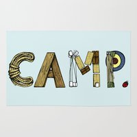 camp Area & Throw Rugs featuring CAMP. by AnnieInk