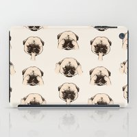 evil iPad Cases featuring No Evil Pug  by Huebucket
