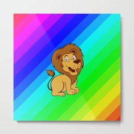 baby toon lion Metal Print
