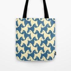 Dog Pattern | Schnauzer | M. C. Escher Inspired Artwork by Tessellation Art Tote Bag