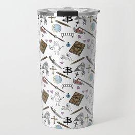Buffy Doodles- white Travel Mug
