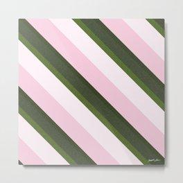 Pink Roses in Anzures 3 Stripes 3D Metal Print