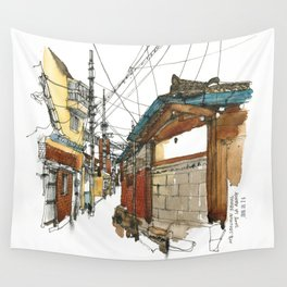 vintige city-seoul Wall Tapestry