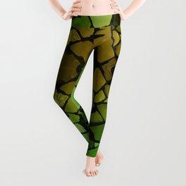 Mosaic - Green Parrot Leggings