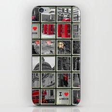 I love London Collage iPhone & iPod Skin