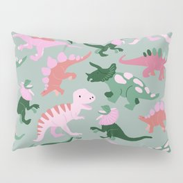 Happy Dinosaurs - Coral & Kelly Pillow Sham
