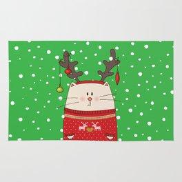Cat Reindeer Rug