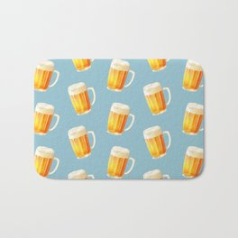 Ice Cold Beer Pattern Bath Mat