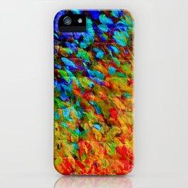 COLLISION COURSE - Bold Rainbow Splash Bricks Urban Jungle Ocean Waves Nature City Acrylic Painting iPhone Case