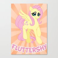 mlp Canvas Prints featuring MLP FiM: Fluttershy by Yiji
