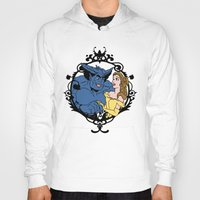 beauty and the beast Hoodies featuring Beauty and Beast by Don Calamari