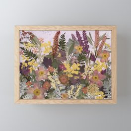 Pressed Flower English Garden Framed Mini Art Print