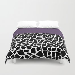 British Mosaic Purple Boarder Duvet Cover