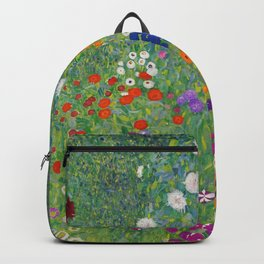 Gustav Klimt Flower Garden Floral Art Nouveau Backpack