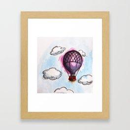 Purple hot air balloon Framed Art Print