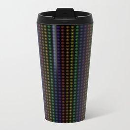 Rows of Rainbow Flowers Metal Travel Mug