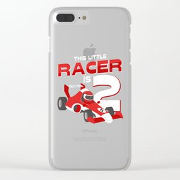 This Little Racer Is 2 Years Old 2nd Birhtday Gift Clear iPhone Case