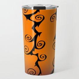 Purple Orange and Black Nightmare Before Christmas Inspired Swirls Travel Mug