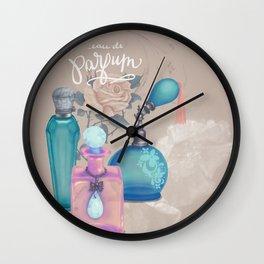 Antique Victorian Perfume Bottles Wall Clock